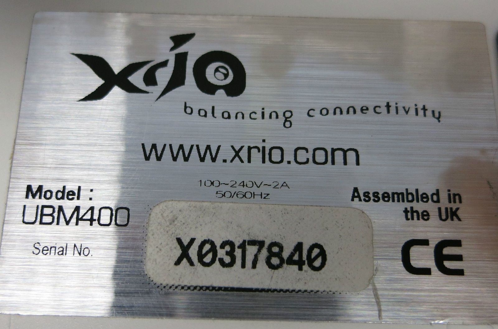 Xrio UBM400 ADSL Bonding And Load Balancing Router 4 Port + 4 Port ADSL  Adapter